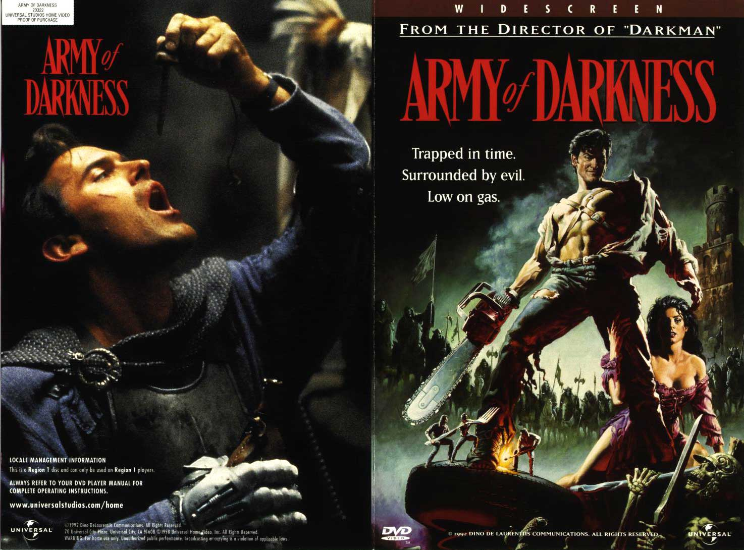 DVD: ARMY OF DARKNESS - Widescreen (Region 1 - US/Canada ...
